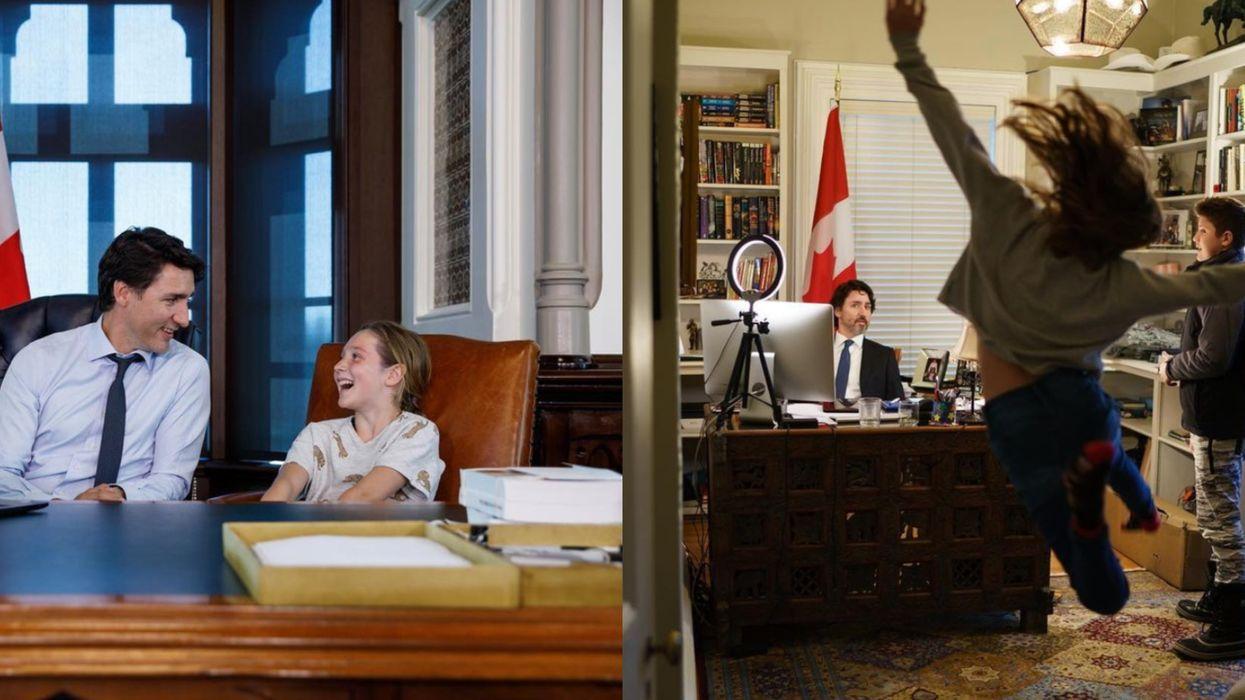 Justin Trudeau souligne l'anniversaire de sa fille avec une hilarante photo
