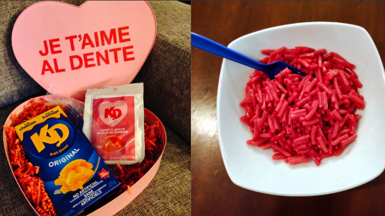 Le Kraft Dinner rose de la Saint-Valentin est sorti et il est réellement sucré