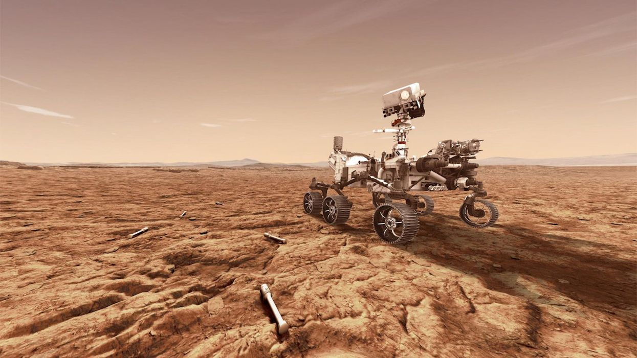 NASA Just Landed Its New Mars Rover & It Already Sent Back Its First Pic