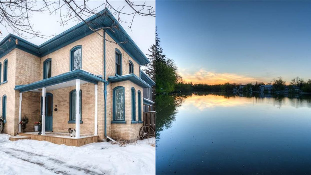 This Victorian Home Near Toronto Gazes Over A Heavenly Lake & Costs Less Than $750K