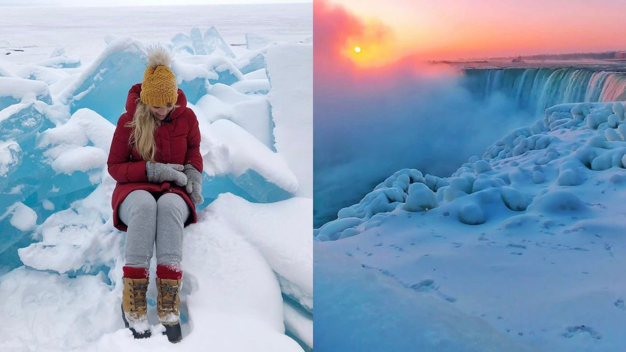 Ontario Just Got Buried In A Blanket Of Snow & Ice But The Views Are Spectacular (VIDEOS)