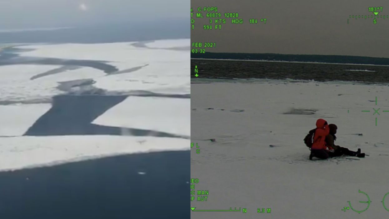Ontario Hikers Stranded On Floating Chunk Of Ice At Bruce Peninsula Get Rescued (VIDEO)