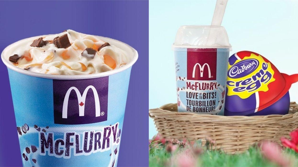 McDonald's Canada Cadbury Creme Egg McFlurry Is Back