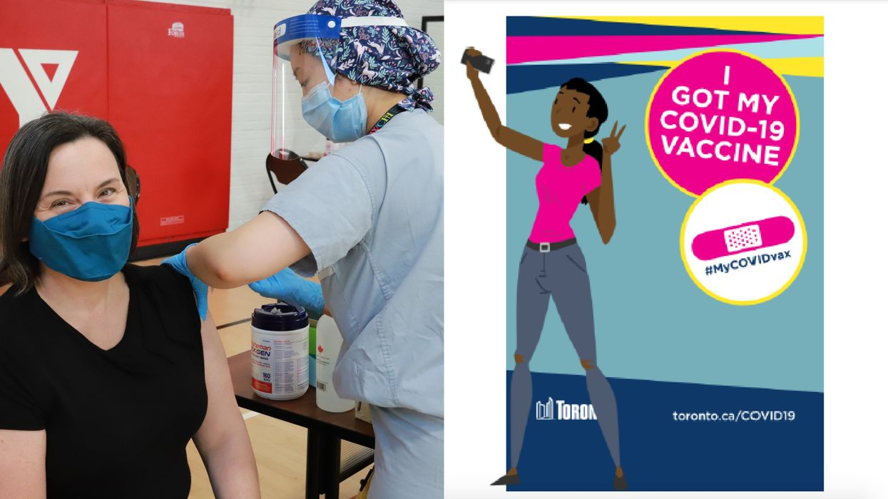 Toronto's COVID-19 Vaccination Program Includes Selfie Stations