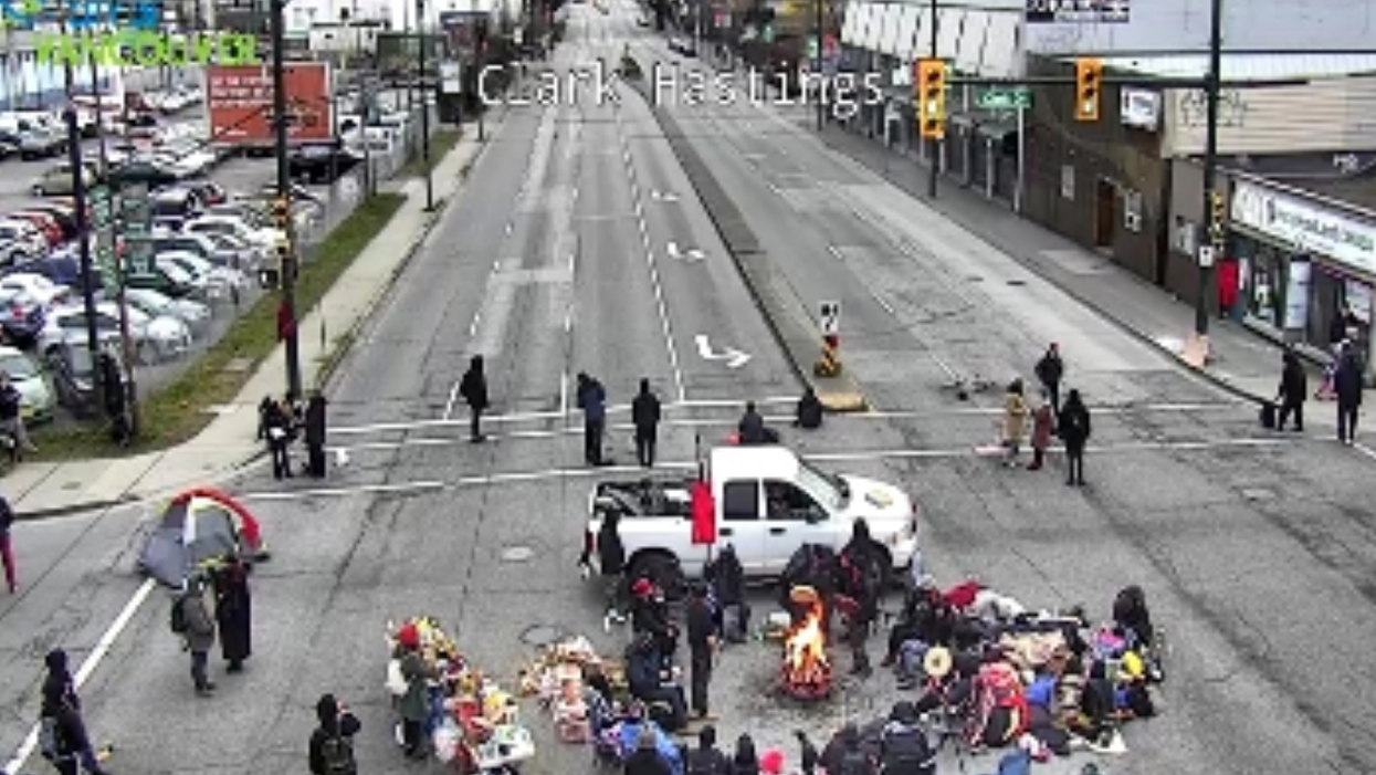 A Vancouver Road Blockade Is Protesting The Criminalization Of Indigenous Land Defenders