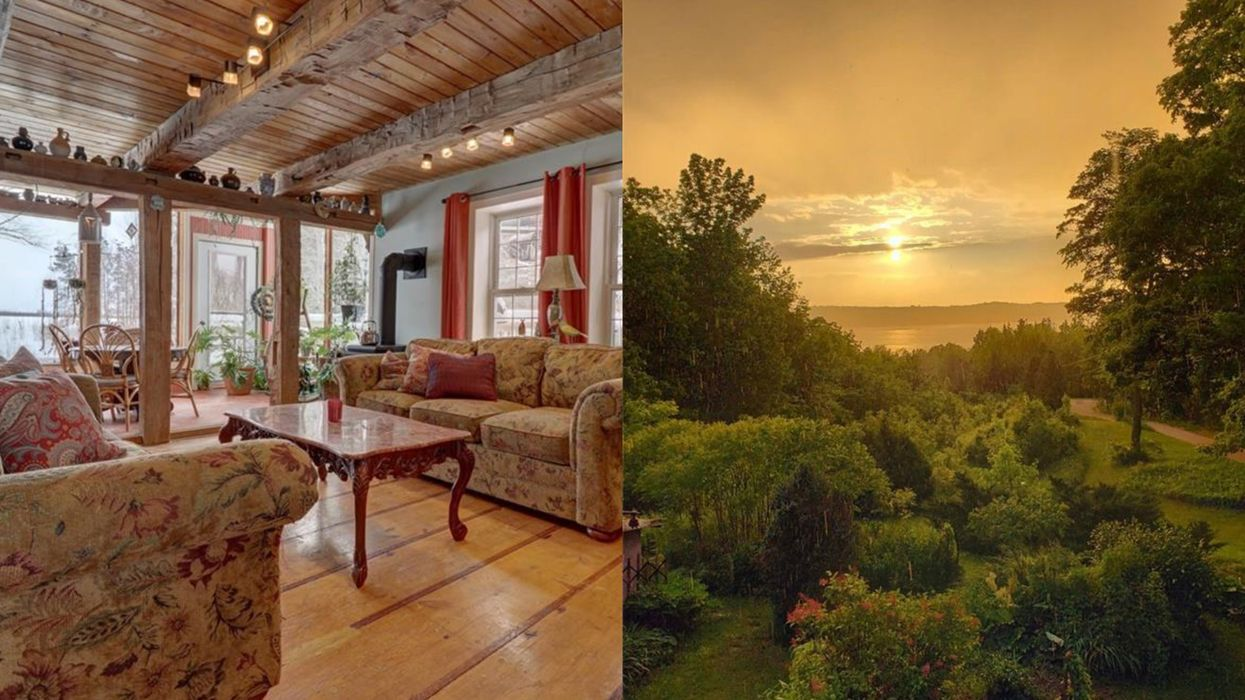 This Massive Ontario Home Has A Garden Oasis Overlooking The Water (PHOTOS)