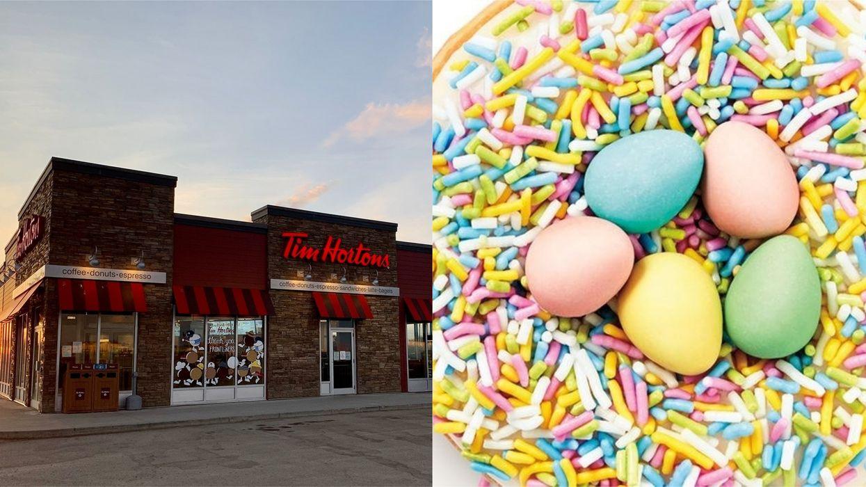 Tim Hortons Mini Egg Donut Is Back Just In Time For Spring