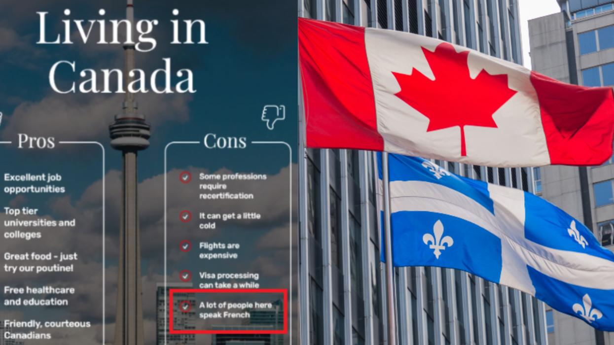 «Plusieurs personnes ici parlent français»: Une publication qui fait réagir au Canada