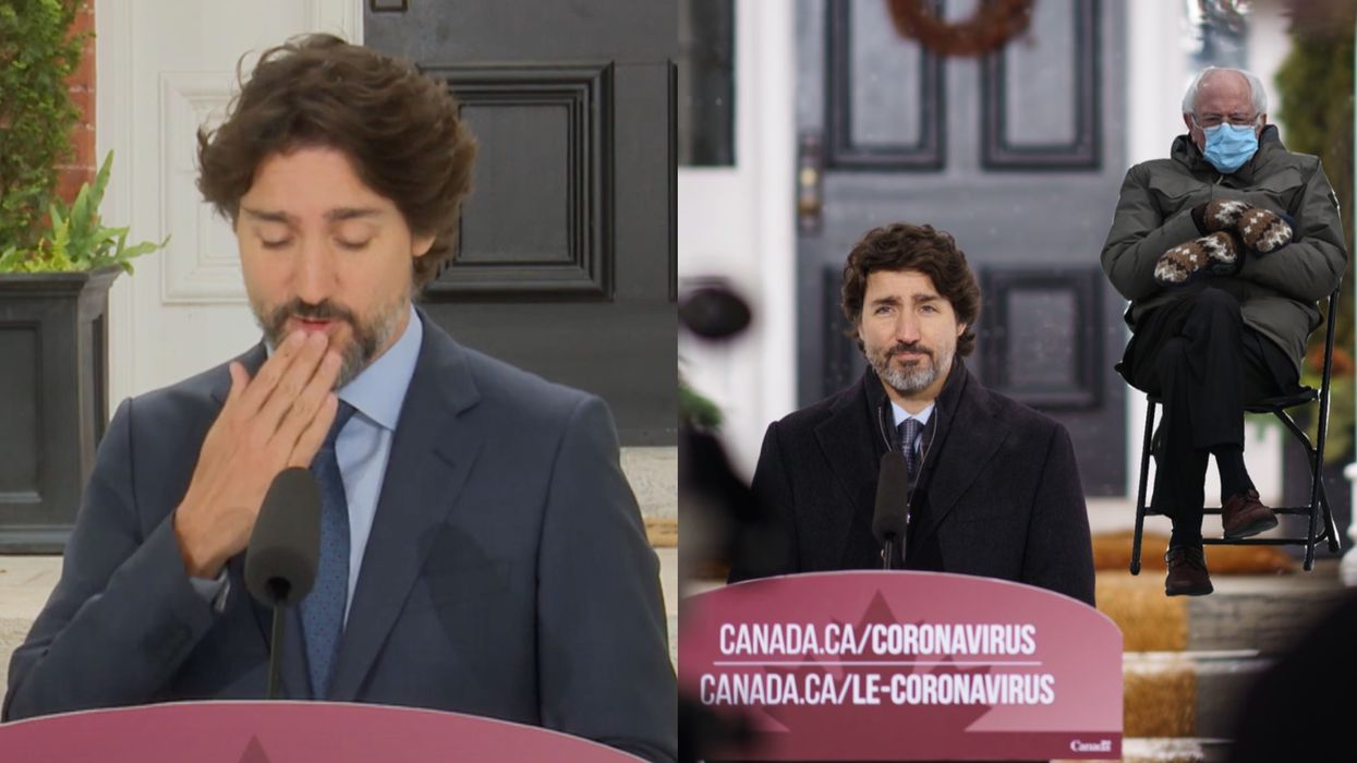 Justin Trudeau's Best COVID-19 Press Conference Moments Include 'Speaking Moistly'