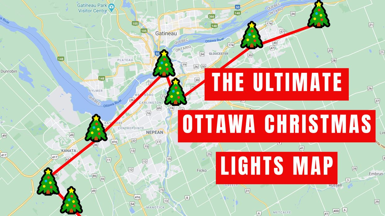 Christmas Lights Around Ottawa This Map Will Take You To Most Spectacular Spots