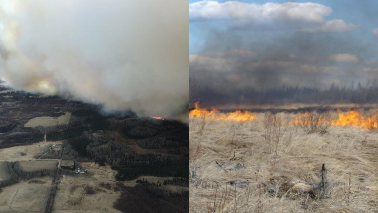 Aerial shot of wildfires in Tomahawk, and a close-up look at the fires