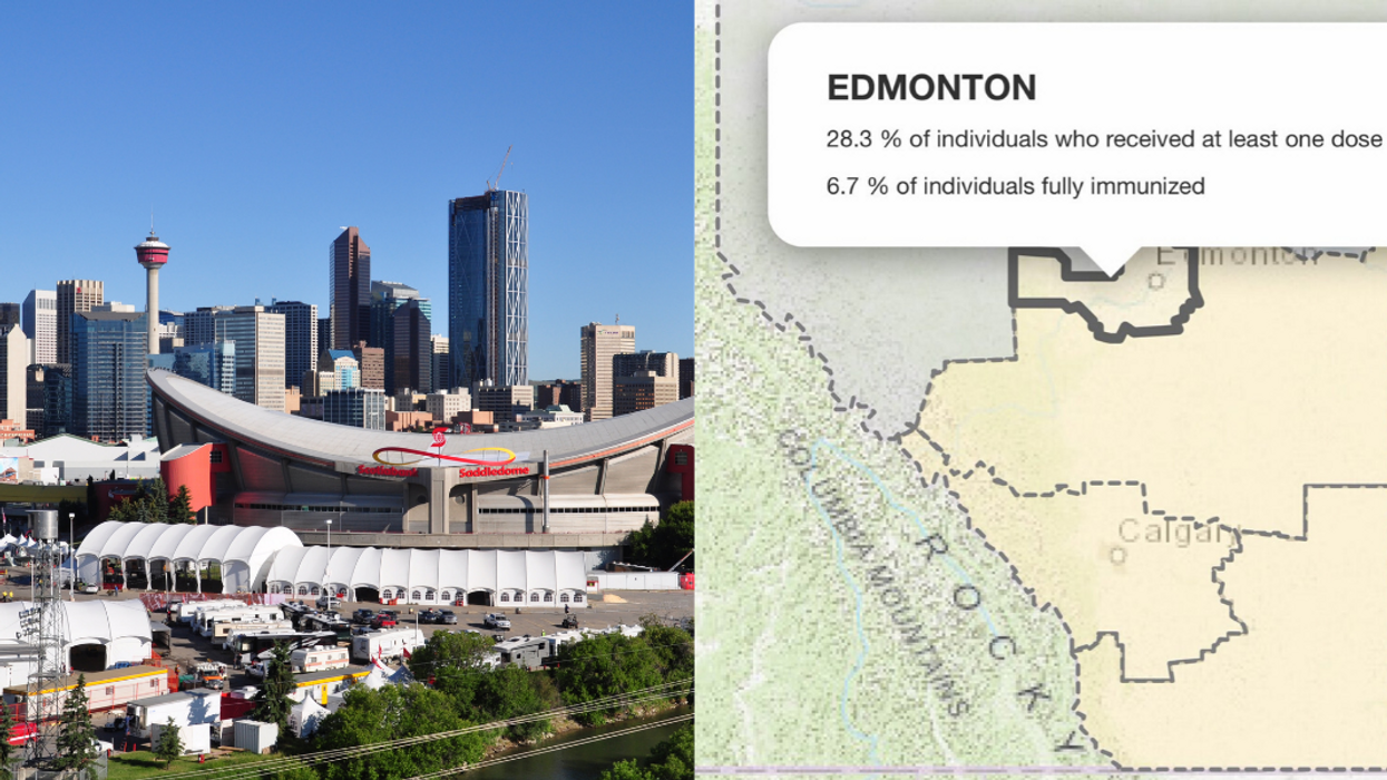 Calgary & Edmonton Are Going Head To Head In A 'Battle Of Alberta' For Vaccination Uptake
