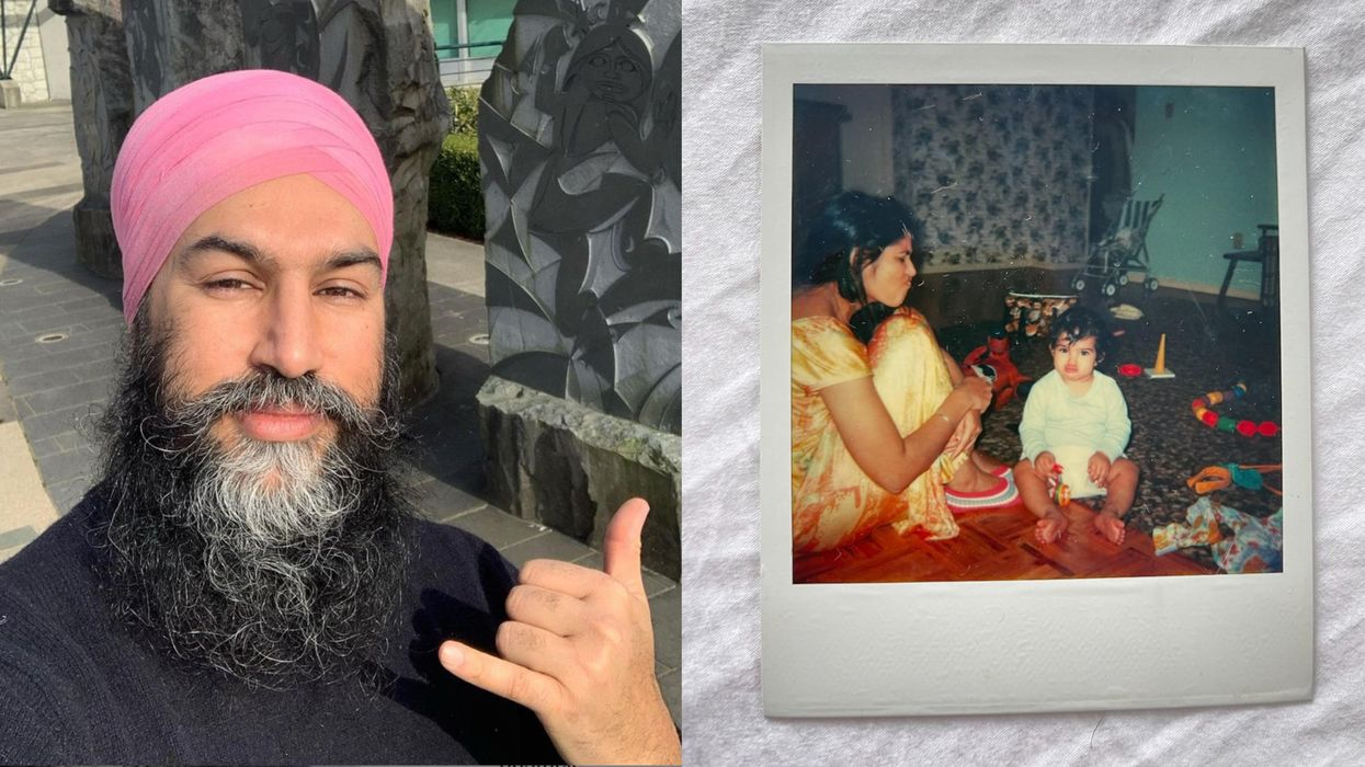 Jagmeet Singh Shared The Perfect Throwback Baby Pic On Mother's Day