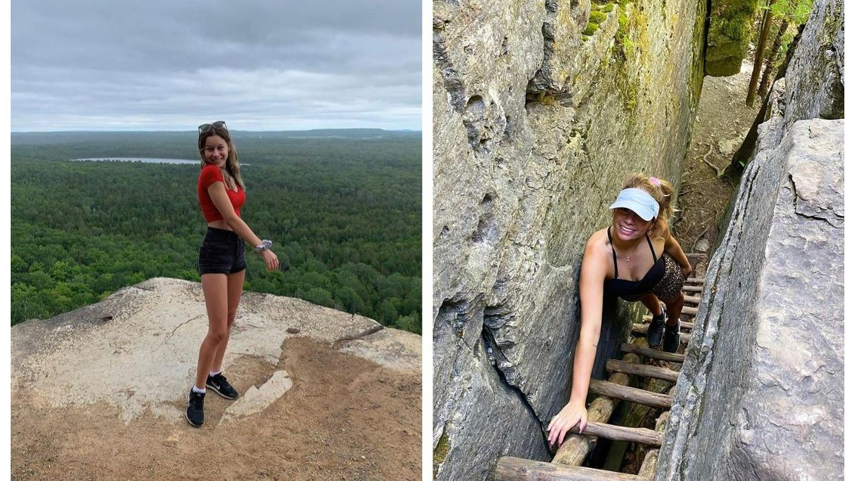 You Can Hike Through Towering Cliffs To The Top Of An Island At This Ontario Spot