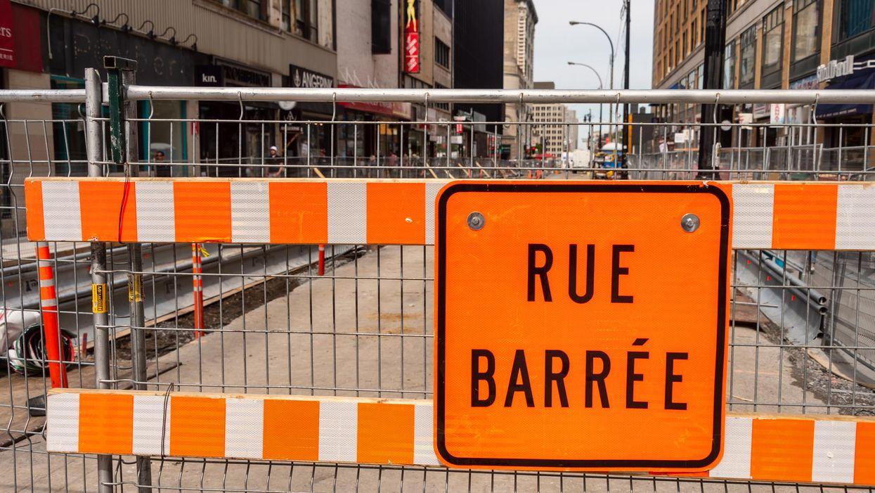 Montréal dévoile un plan pour t'éviter de trop sacrer sur les travaux et les cônes orange