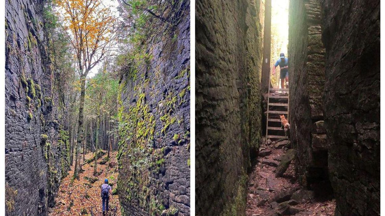 This 2-km Trail In Ontario Will Take You Through A Labyrinth Of Giant Rock Crevices