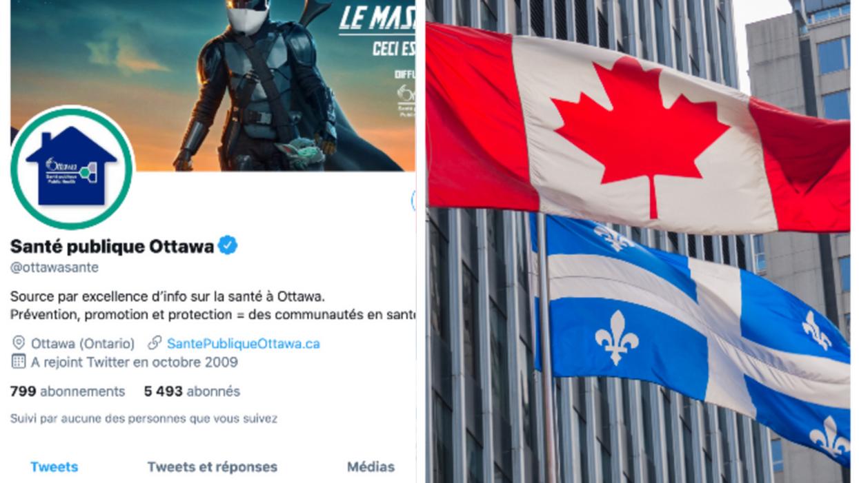 Santé publique Ottawa partage un tweet « dirty » en essayant d'écrire en français