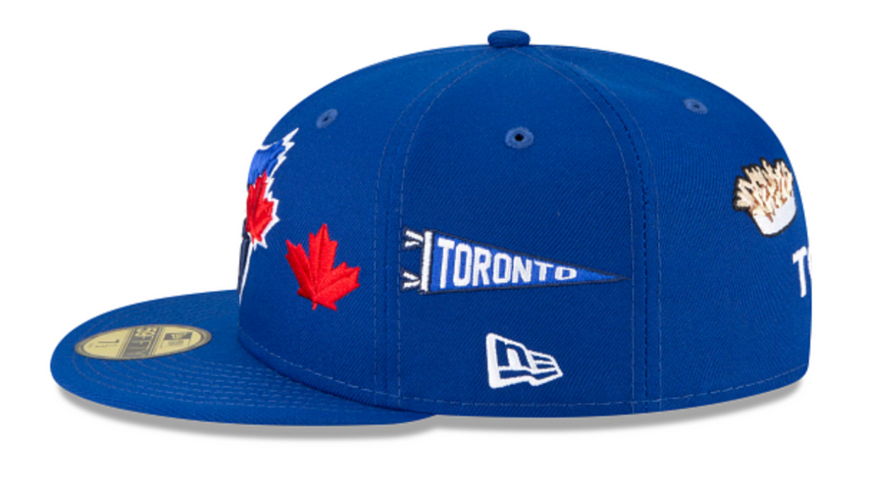 Photo of the Jays hat with the poutine patch