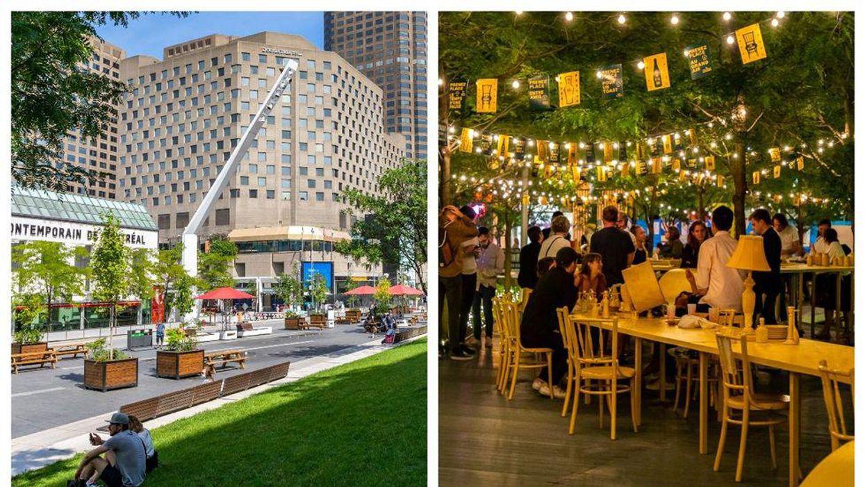 Ces 11 « oasis » pour se rassembler débarquent au centre-ville de Montréal cet été