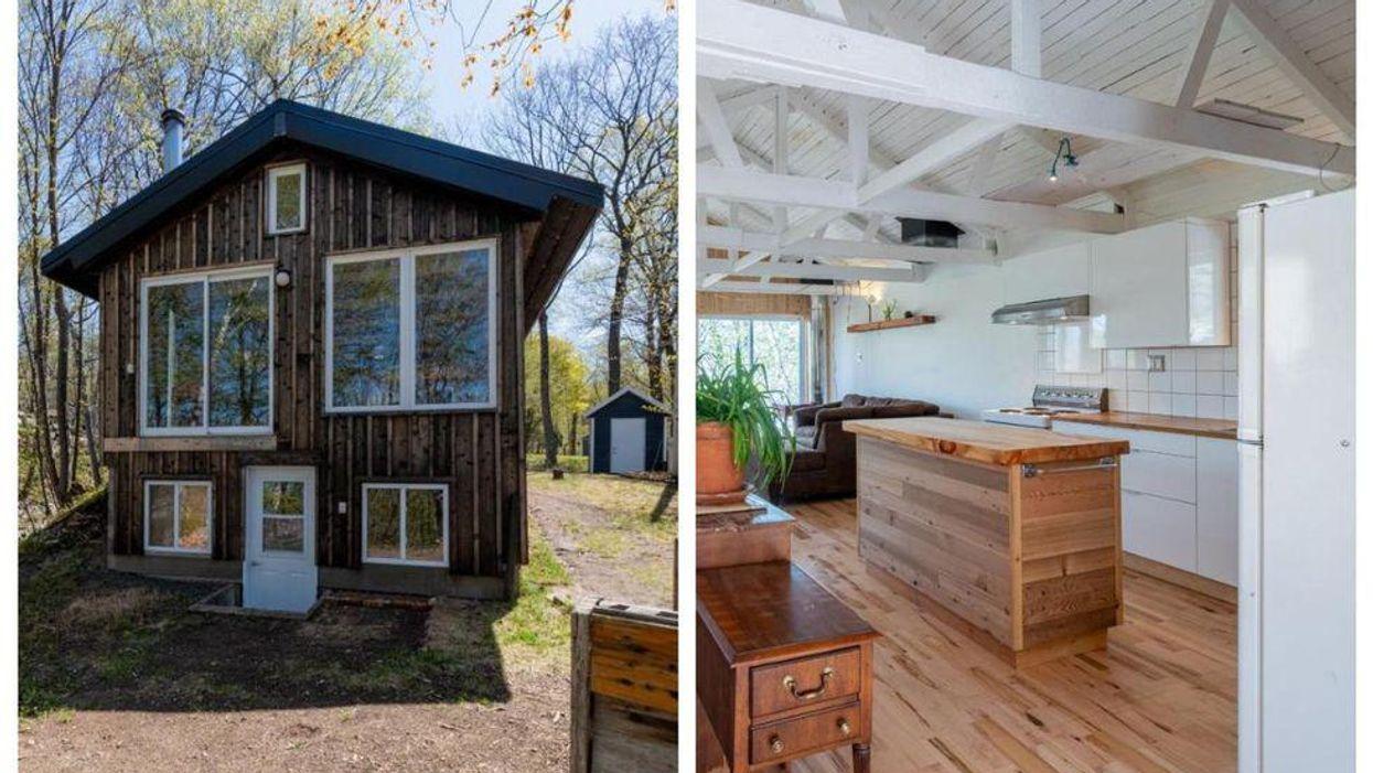 L'intérieur de cette maison de 145 000 $ près de Québec est le contraire de l'extérieur