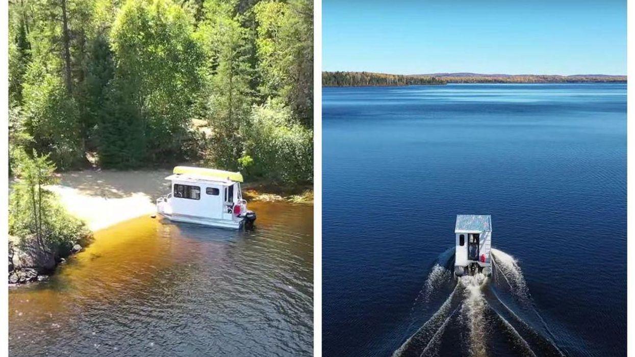 Tu peux louer ta propre roulotte sur l'eau dans ce parc à moins de 3 h de Montréal