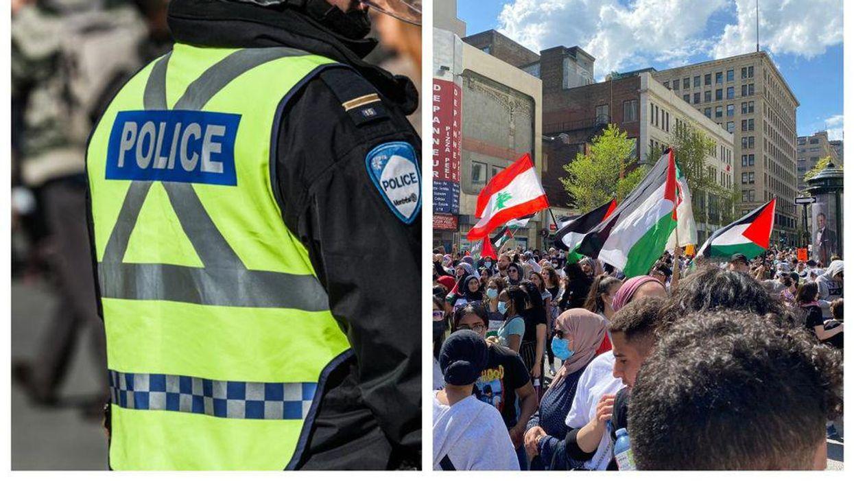 Des manifestations en soutien à Israël et la Palestine mènent à 15 arrestations à Montréal