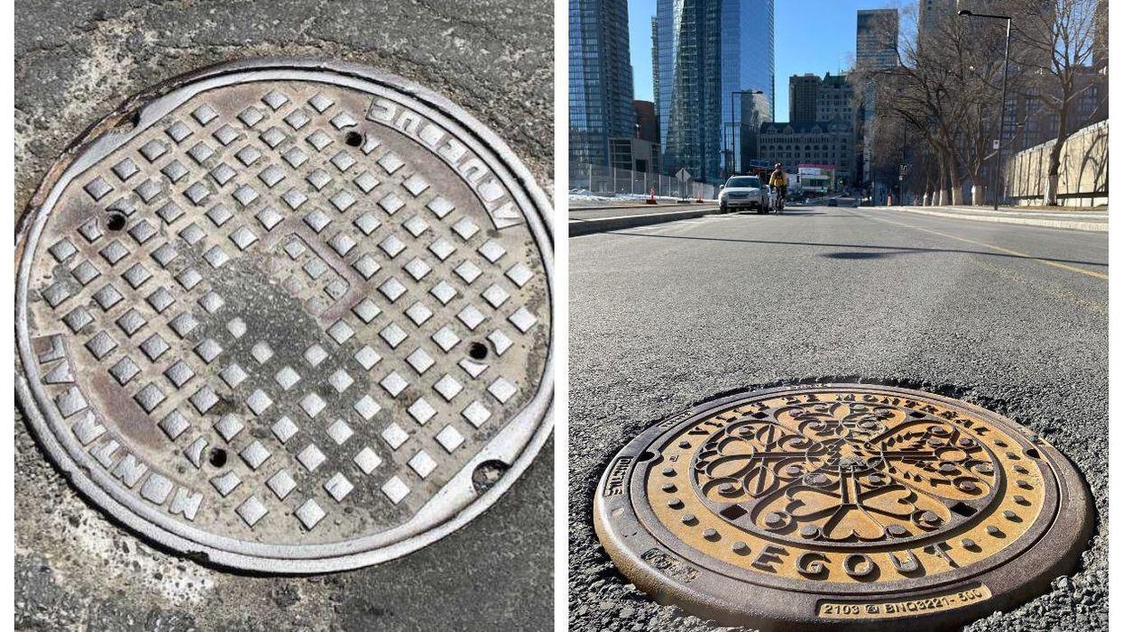 Les plaques d'égout ont une nouvelle allure à Montréal et ça vaut le coup d'œil