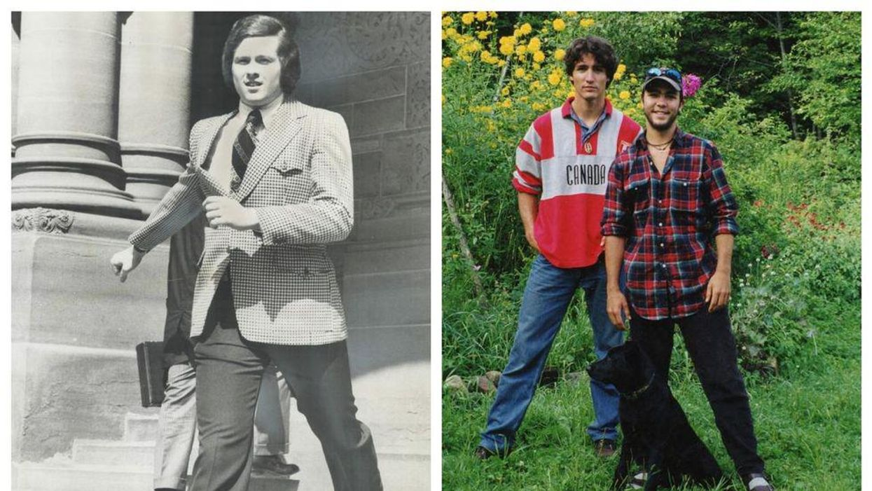 Photos of John Tory and Justin Trudeau from when they were younger