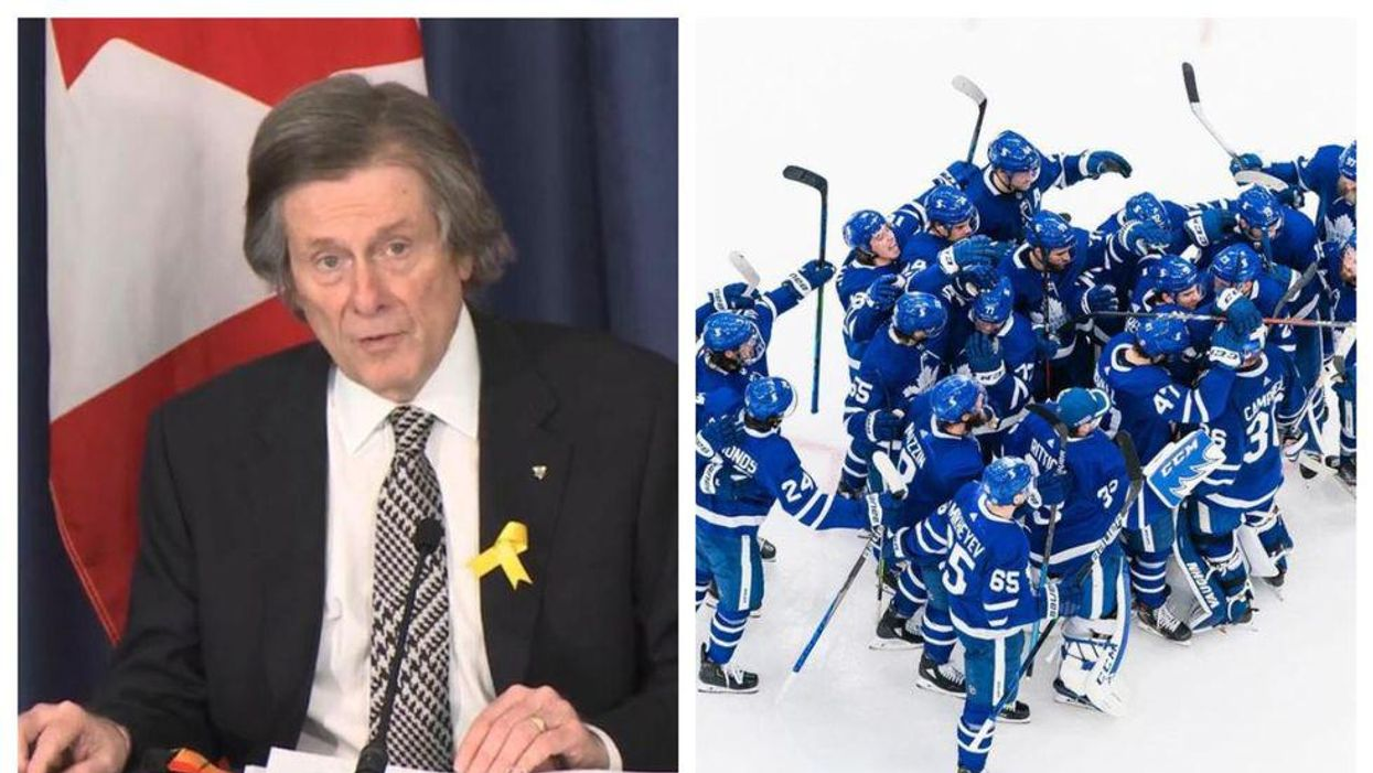 Photos of John Tory and Toronto Leafs