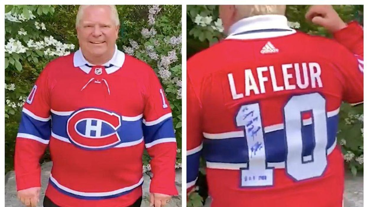 Doug Ford Put On A Habs Jersey Last Night & He Said It Was 'Killing' Him (VIDEO)