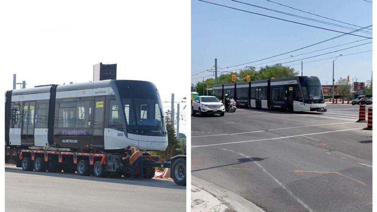 Torontonians Are Finally Spotting Eglinton LRT Vehicles & It's Not Just A Dream (PHOTOS)