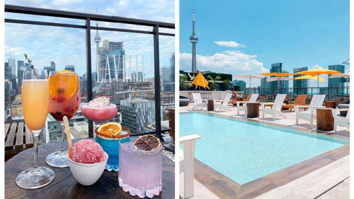 This Towering Poolside Patio Is Reopening In Toronto With Boozy Bubble Tea & More