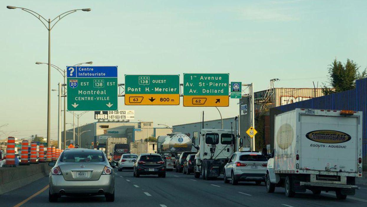 Voici la carte de toutes les fermetures majeures sur les routes ce week-end à Montréal