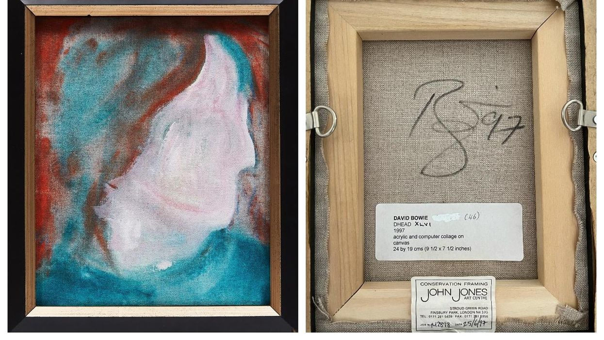 Someone Found A Rare Painting By David Bowie At A Random Donation Store In Ontario