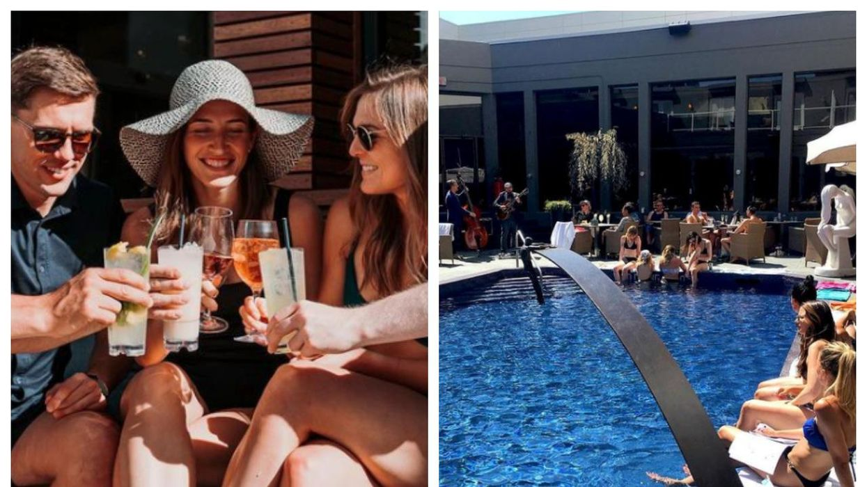Calgary's 'Urban Oasis' Patio Pool Is Open For Summer & The Cocktails Are Next-Level