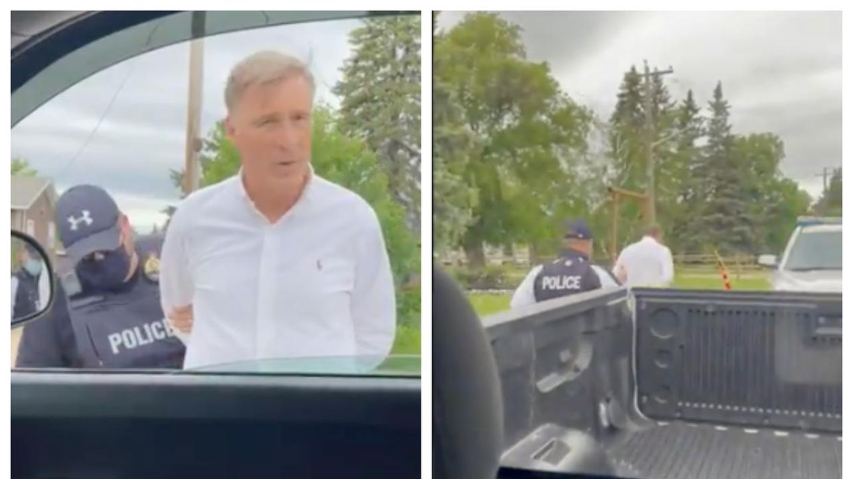 Maxime Bernier Has Been Arrested At A Freedom Rally In Manitoba (VIDEO)