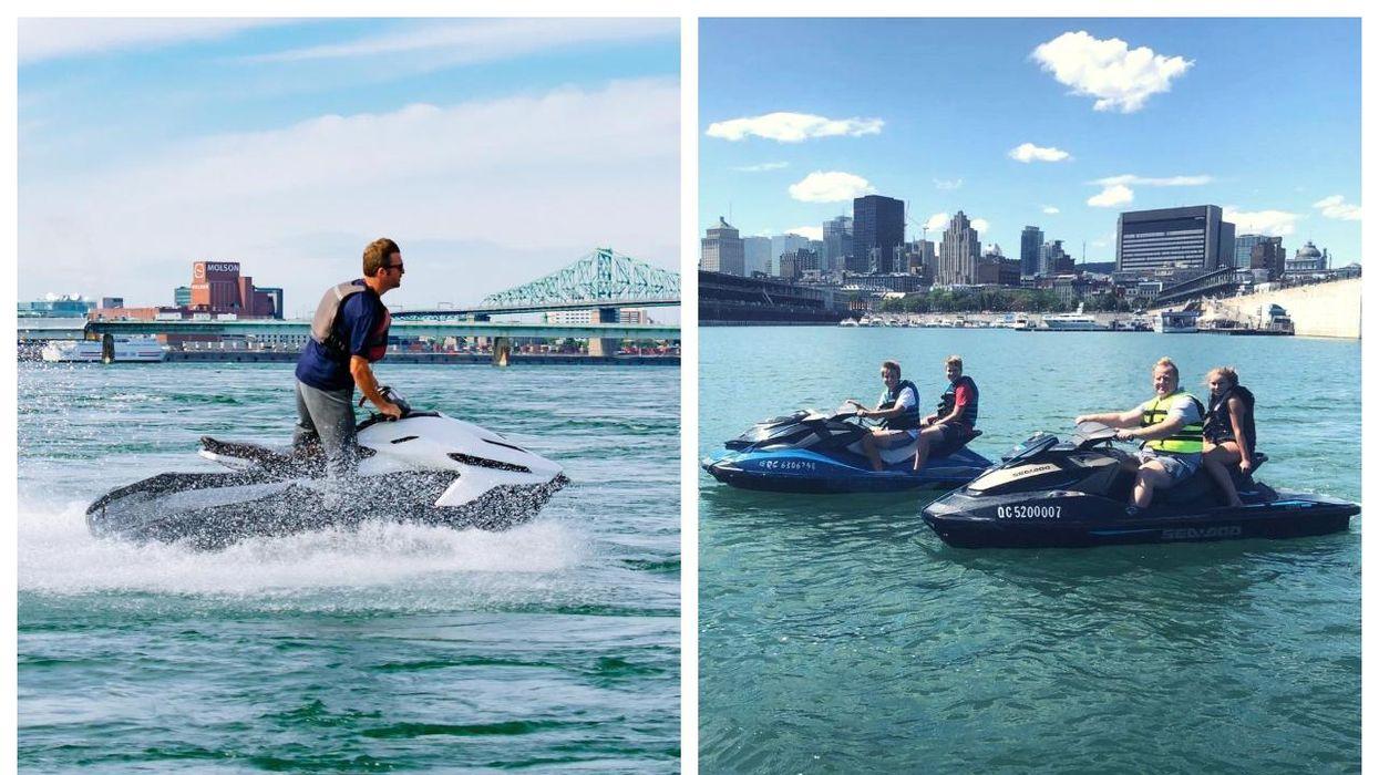 Tu peux faire de la motomarine à Montréal à moins de 90 $ la demi-heure avec une vue WOW
