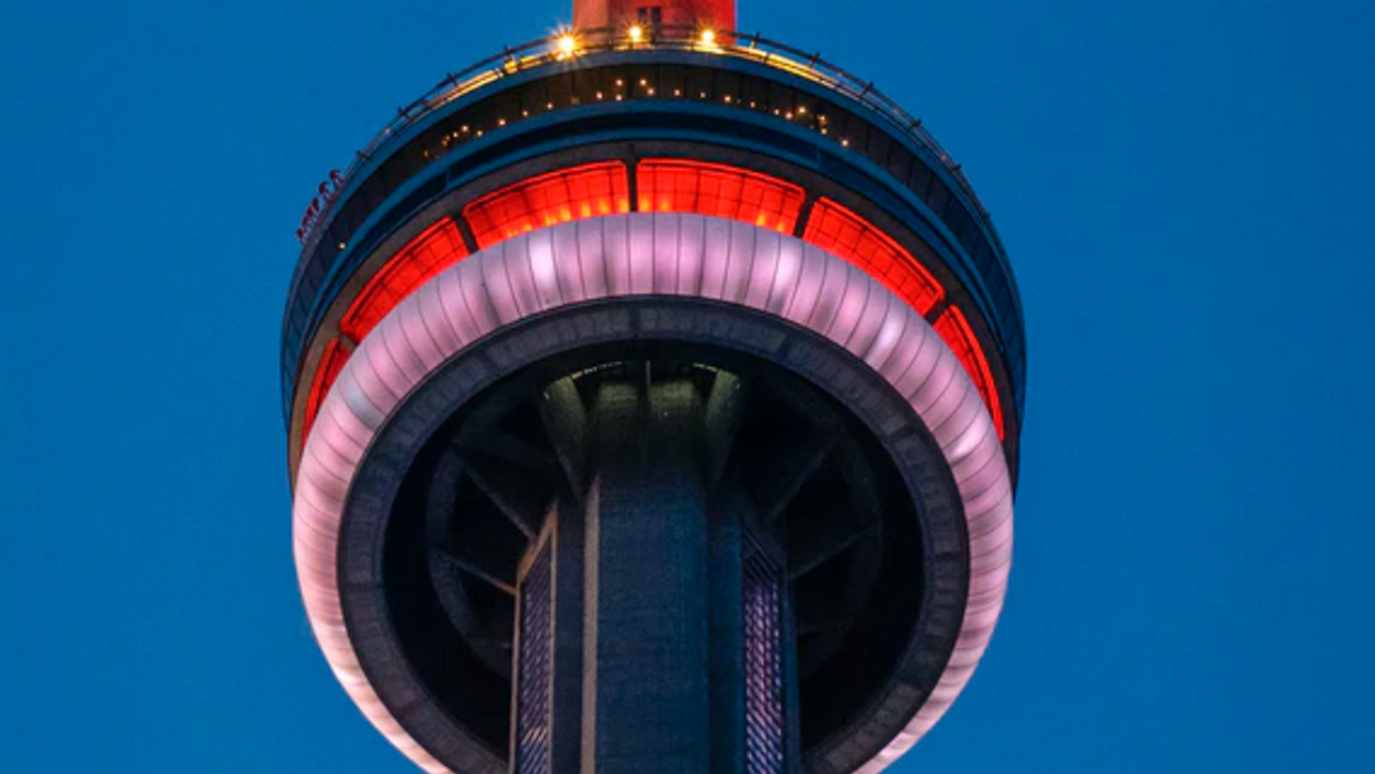 Leafs Fans Are Beyond Offended By The CN Tower's Tribute To The Habs Last Night (PHOTO)