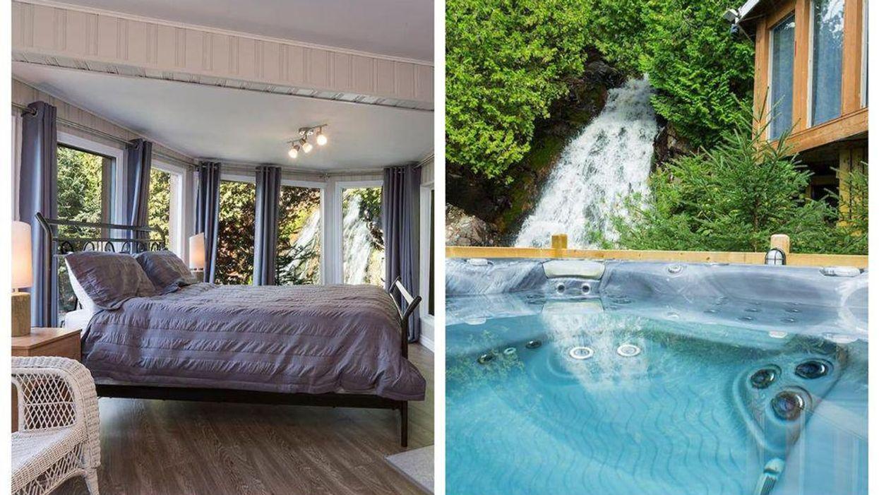 Ce Airbnb avec vue incroyable sur une chute est l'endroit rêvé pour des vacances au Québec