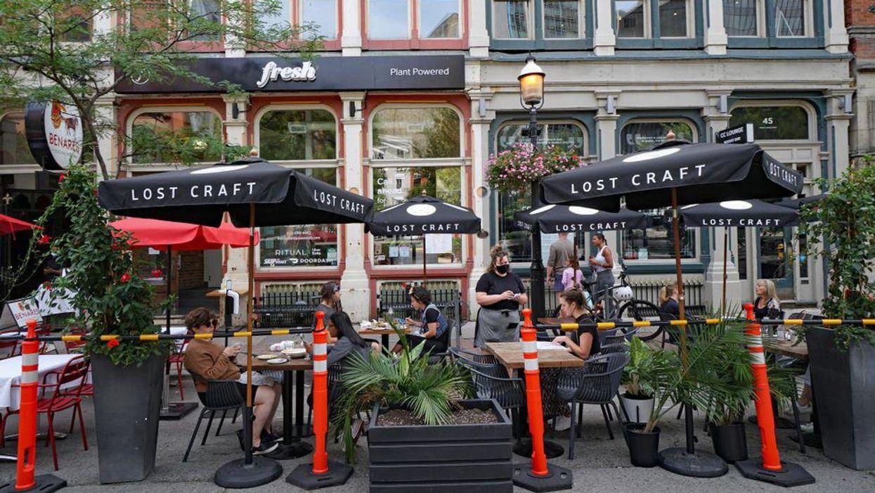 Photo of downtown Toronto patio
