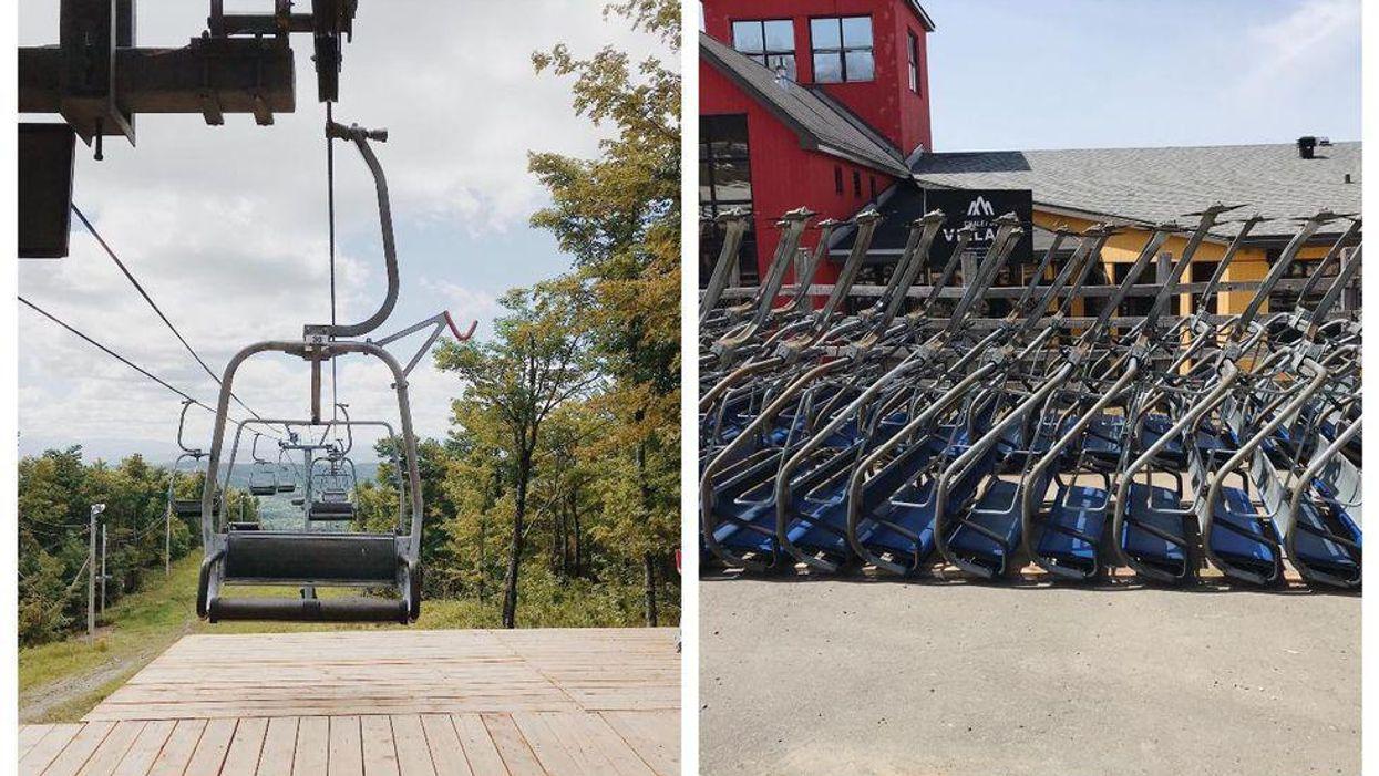 Ce mont près de Montréal vend ses « chair lifts » et c'est la déco vintage qu'il te faut