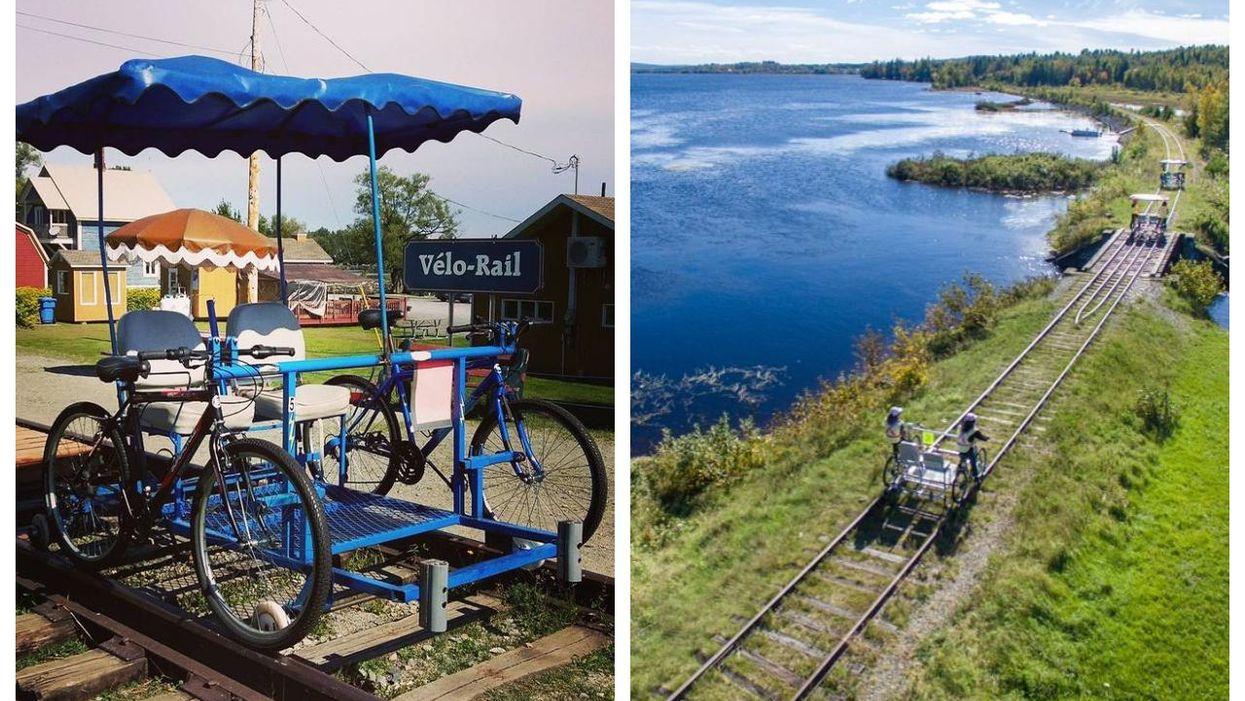 Cette piste de vélo sur des rails au Québec doit être sur ta « bucket list » de l'été