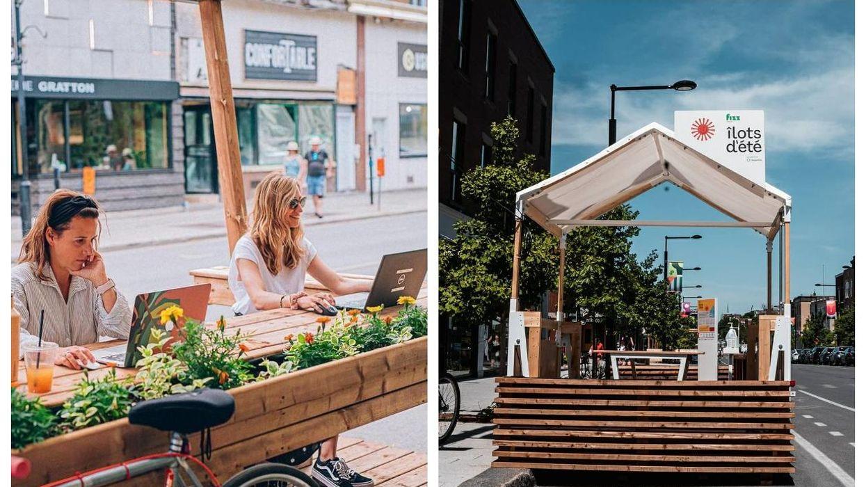 Tu vas pouvoir travailler en mode terrasse dans ces cabanes avec Wi-Fi à Montréal cet été
