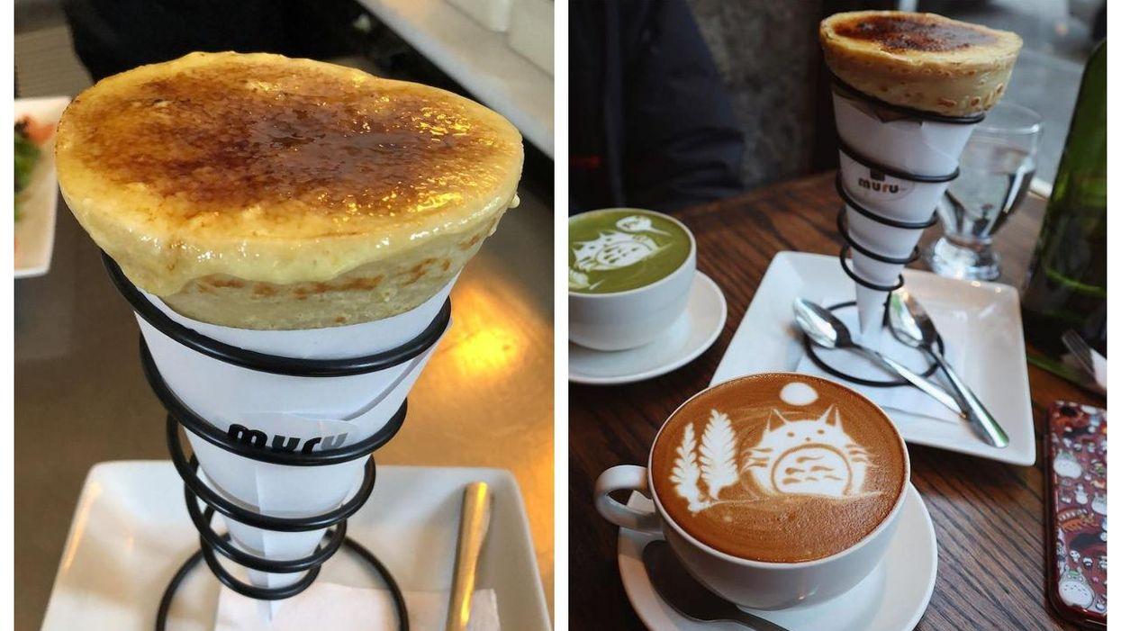 Le resto Muru Crêpe à Montréal sert des crèmes brûlées dans des crêpes