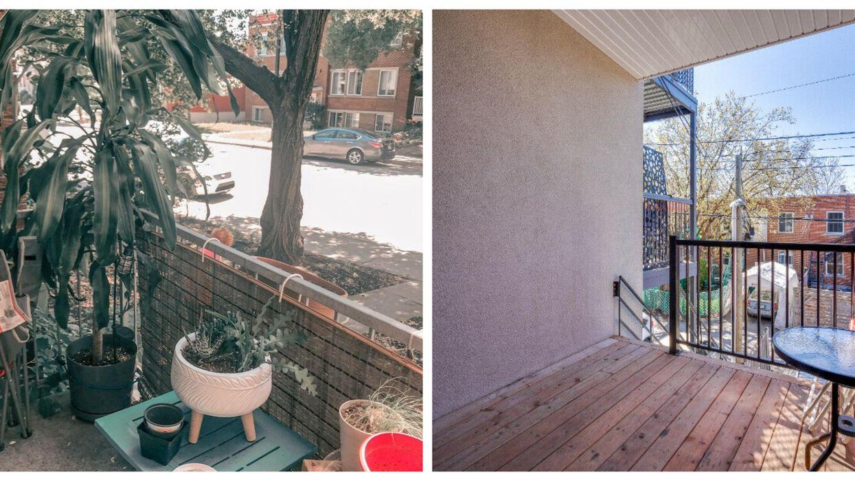 Appartements à moins de 1000 $/mois à Montréal avec terrasse