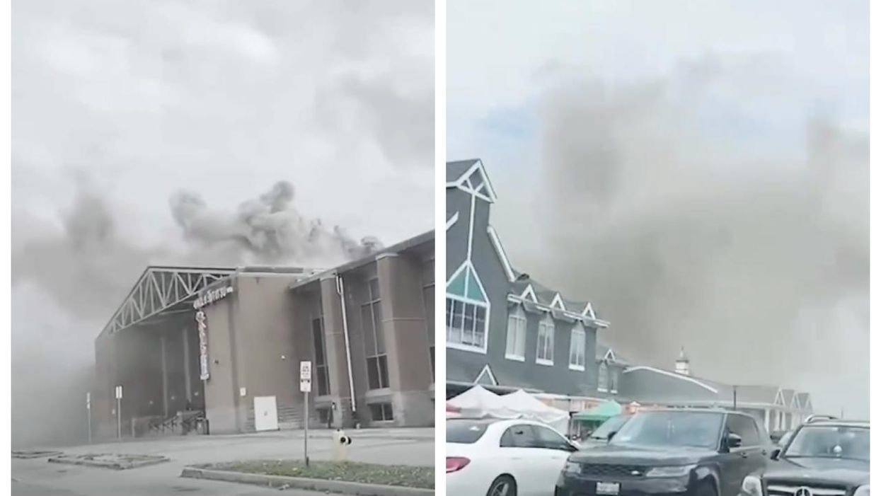 Pacific Mall Caught Fire & Filled The Sky With Black Smoke