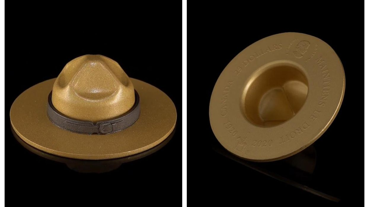 Canadian Coins Include This Unique Mountie Hat-Shaped One