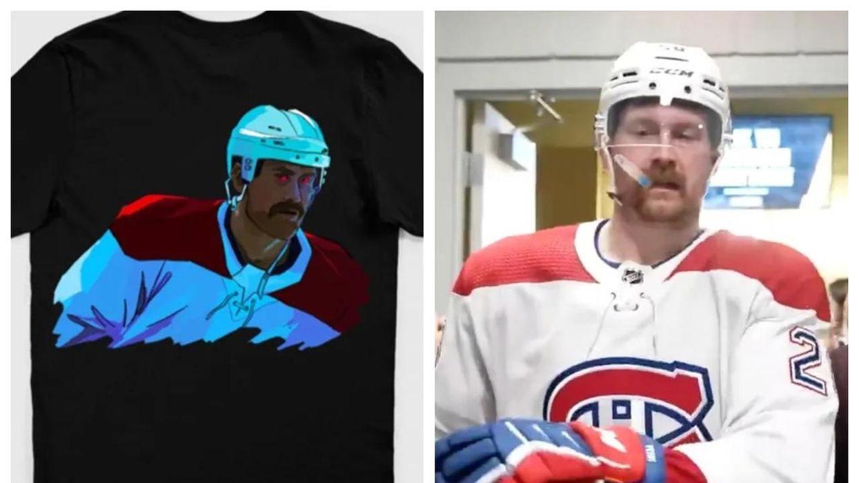 De nouveaux t-shirts avec les yeux rouges de Petry existent à Montréal