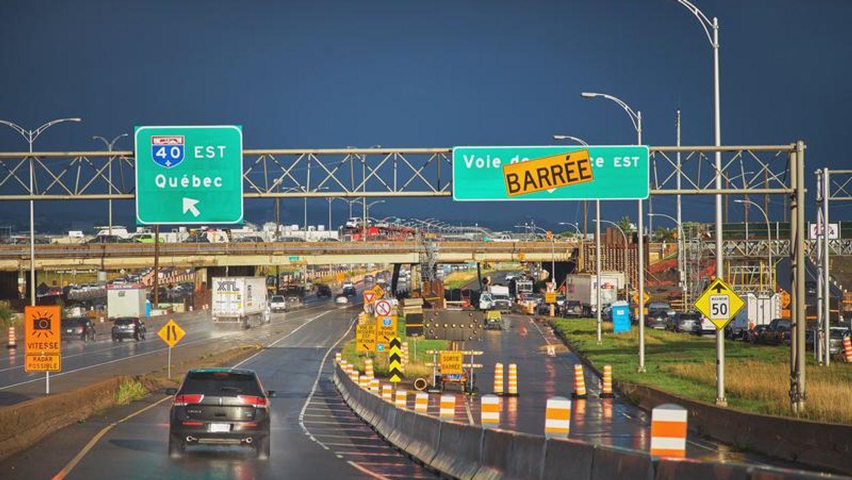 Circulation à Montréal : une bretelle de l'autoroute 40 fermée