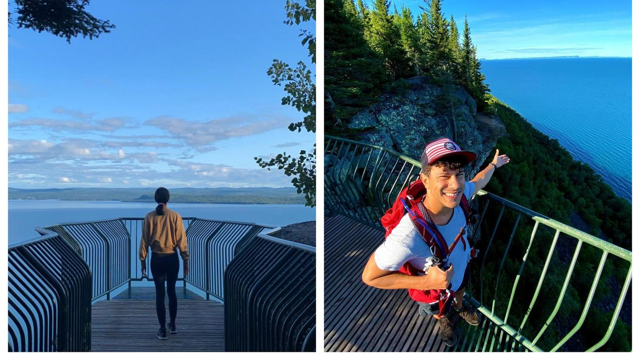 Thunder Bay's Secret Lookout Is Perched On The Edge Of A Cliff